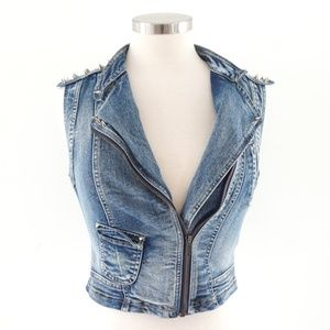 Forever 21 studded denim vest
